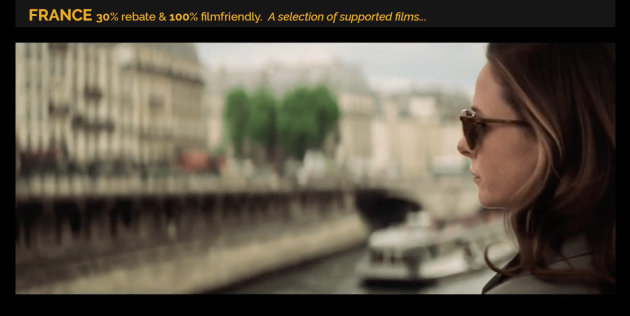 Photo of FRANCE : 30% REBATE 100% FILM FRIENDLY – 2018